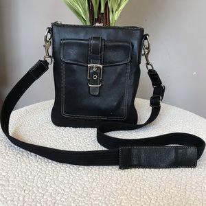 Black COACH Leather Crossbody Bag Purse